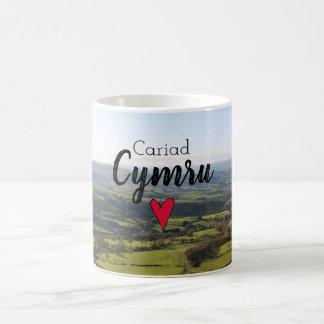 Cariad Cymru Love Wales Landscape Welsh Hills Coffee Mug