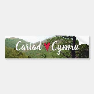 Cariad Cymru Wales Hill Landscape Devils Bridge Bumper Sticker