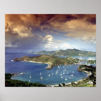 Caribbean, Antigua. Poster
