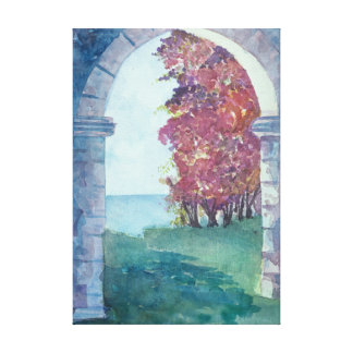 Caribbean Archway watercolor Canvas Print