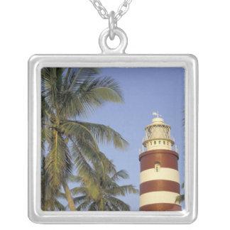Caribbean, Bahamas, Abaco, Elbow Cay. Hopetown Square Pendant Necklace