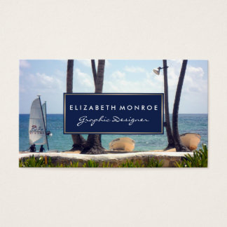 Caribbean Beach Business Card