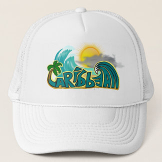 Caribbean Beach Mode Trucker Hat