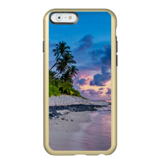 Caribbean Beach Turquoise Water and Coastal Palms Incipio Feather® Shine iPhone 6 Case