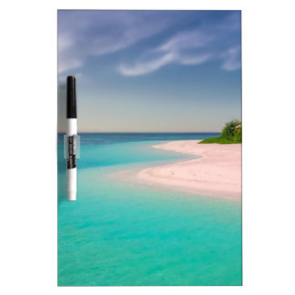 CARIBBEAN BEACH WITH TURQUOISE WATERS DRY ERASE BOARD
