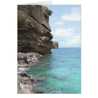 Caribbean Bluffs on Grenada Notecard