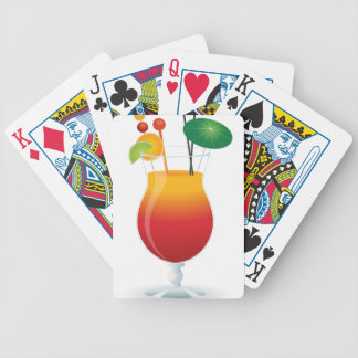 Caribbean Cocktail Bicycle Playing Cards