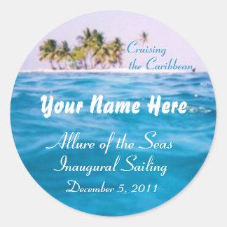 Caribbean Cruising Customizable Stickers