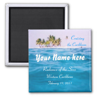 Caribbean Cruising Personalized Magnet