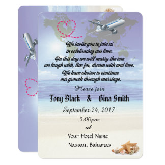 Caribbean Destination Wedding Invitation
