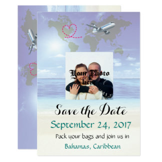 Caribbean Destination Wedding Save the Date Card