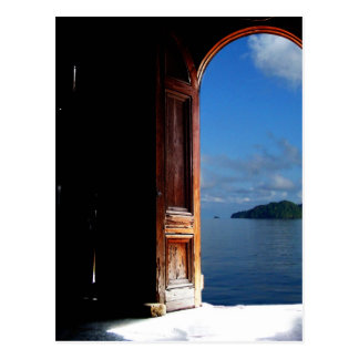 Caribbean Dream Doorway Postcard