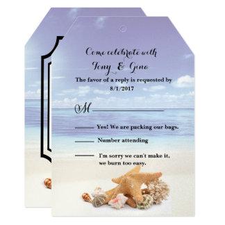 Caribbean  Dreamz Destination Wedding RSVP Card