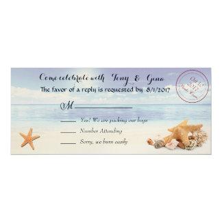 Caribbean Dreamz Destination Wedding RSVP Cards