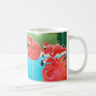 Caribbean Flamingo Lagoon Mug