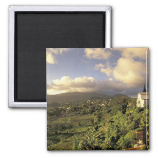 Caribbean, French West Indies, Martinique. Square Magnet