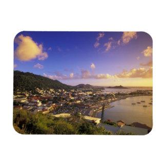 Caribbean, French West Indies, St. Martin. Rectangular Photo Magnet
