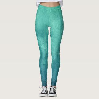 Caribbean green solid pattern legging