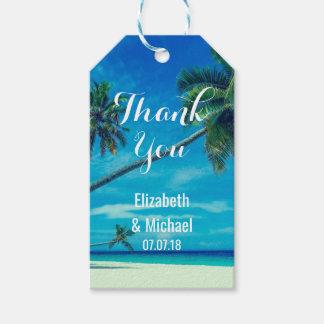 Caribbean Island Tropical Beach Wedding Thanks