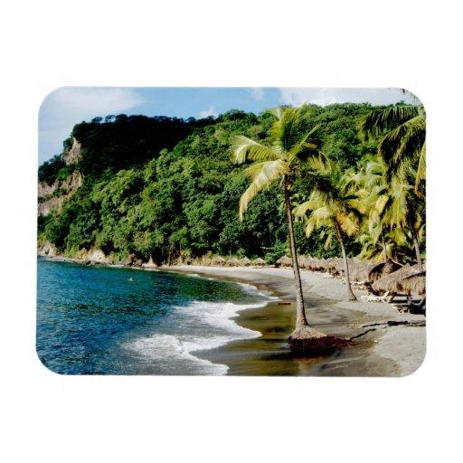 Caribbean, Lesser Antilles, West Indies, Saint Vinyl Magnets