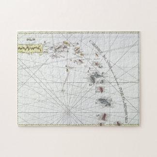CARIBBEAN: MAP, 1775 JIGSAW PUZZLE