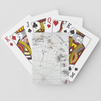 CARIBBEAN: MAP, 1775 PLAYING CARDS
