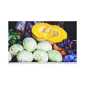Caribbean Market ~ Pumpkin & Cabbage ~ Canvas Art
