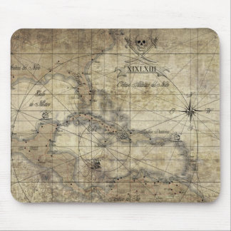 Caribbean - old map mouse pad