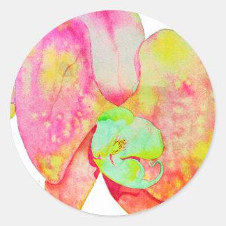 Caribbean Orchids Round Sticker