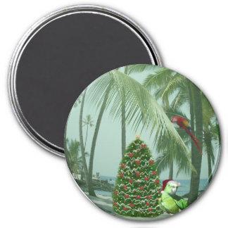 Caribbean Paradise Christmas Magnet