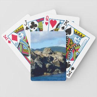 Caribbean Rocky Barrier St. Thomas Landscape Poker Deck