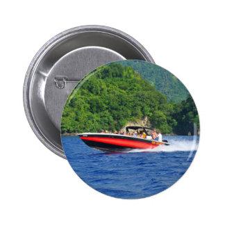 Caribbean sea 6 cm round badge