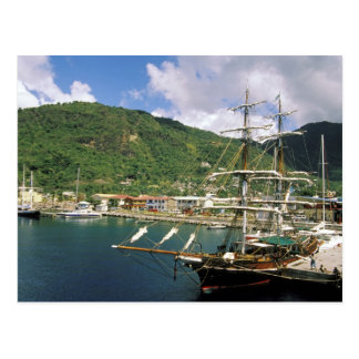 Caribbean, St. Lucia, Soufriere. Boats in Postcard