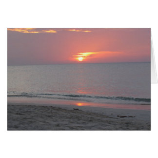 Caribbean Sunset Blank Greeting Card