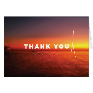 Caribbean sunset 'Thank you' card