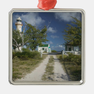 Caribbean, TURKS & CAICOS, Grand Turk Island, 3 Metal Ornament