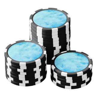 Caribbean Turquoise Sea Poker Chips