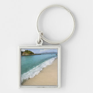 Caribbean, U.S. Virgin Islands, St. John, Silver-Colored Square Key Ring