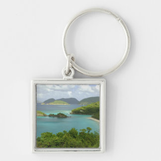 Caribbean, U.S. Virgin Islands, St. John, Trunk 2 Silver-Colored Square Key Ring