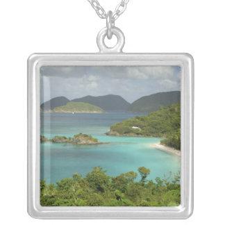 Caribbean, U.S. Virgin Islands, St. John, Trunk Square Pendant Necklace