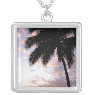Caribbean, U.S. Virgin Islands, St.Thomas, 3 Square Pendant Necklace