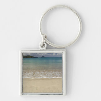 Caribbean, U.S. Virgin Islands, St.Thomas, 5 Silver-Colored Square Key Ring