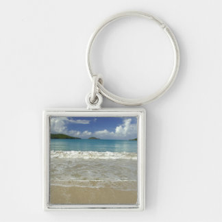 Caribbean, U.S. Virgin Islands, St.Thomas, 6 Silver-Colored Square Key Ring
