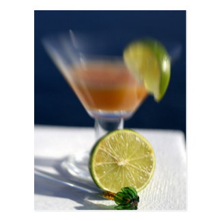 Caribbean, Virgin Islands. Tropical rum punch, Postcard