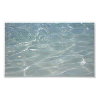Caribbean Water Abstract Blue Nature Photo Print