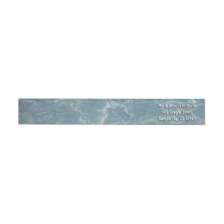 Caribbean Water Abstract Blue Nature Wrap Around Label