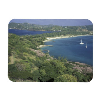 Caribbean, West Indies, St. Lucia. View of Rectangular Photo Magnet
