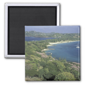 Caribbean, West Indies, St. Lucia. View of Square Magnet