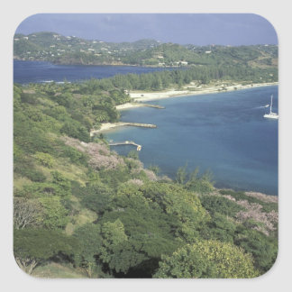 Caribbean, West Indies, St. Lucia. View of Stickers