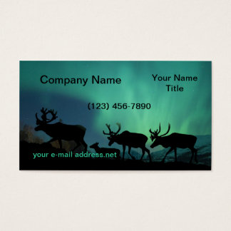 Caribou and Northern Lights Business Card